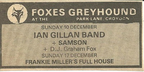 12-10-78 Ian Gillan-Samson @ London, Eng.