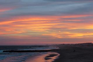 Green lightning sunset, Ocean Grove, New Jersey