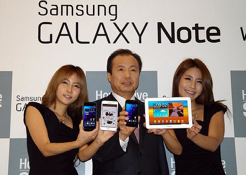 Samsung launches Galaxy Note, Nexus, and Galaxy 8.9 Tab