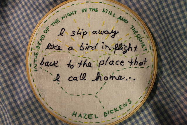Hazel Dickens Embroidery