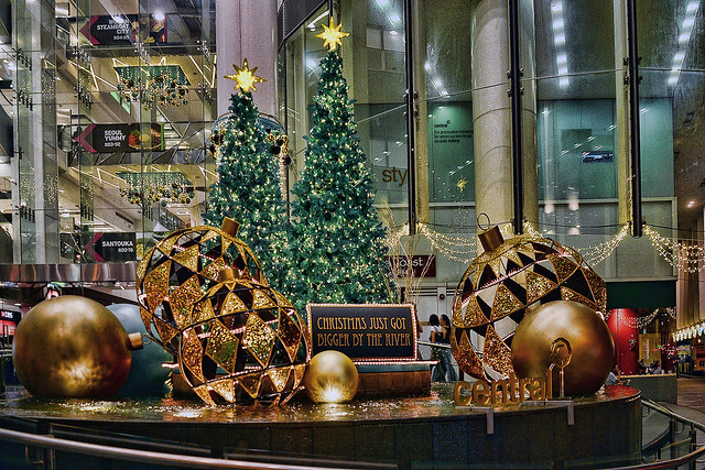 Christmas tree at The Central, Singapore
