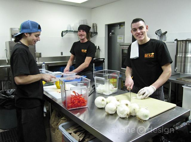 The Mac Shack kitchen