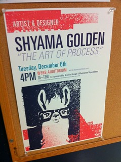 Shyama Golden posters are live and around the art buildings: