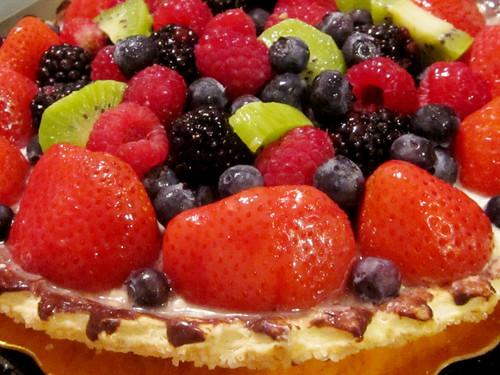 Fruit Custard Pie