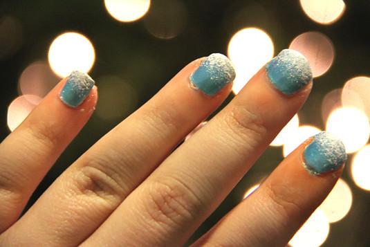 blog lovelymissmegs megan christmas nail art diy frost