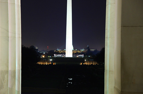 Lincoln Memorial - entrance - looking out - closeup - 2011