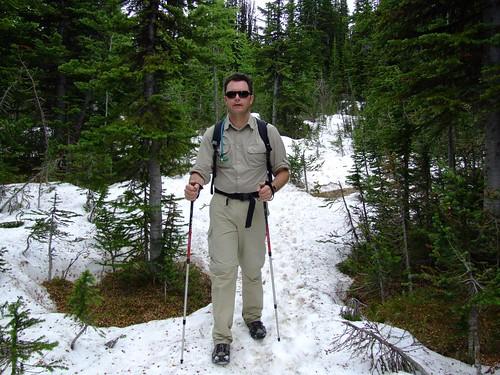 sneeuw op Burstall Pass