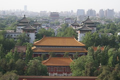Jingshan North view - Drum and Bell Tower