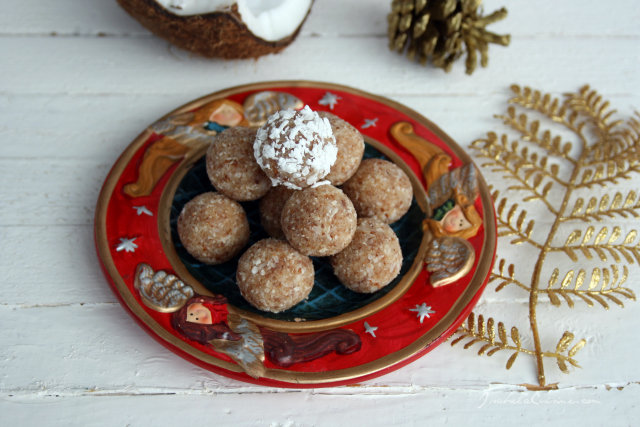Coconut candy and almonds