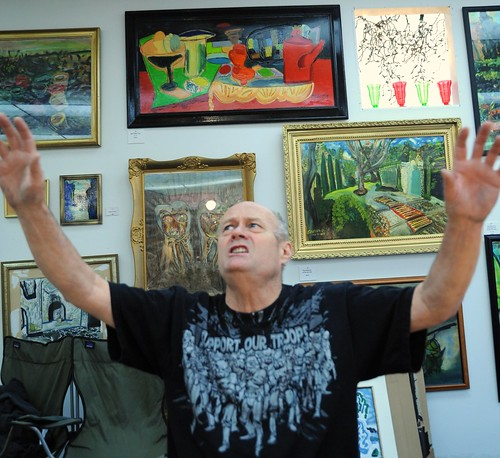 Gospel of Karl Krogstad, framed art, gallery, Support Our Troops t-shirt, Ballard, Seattle, Washington, USA by Wonderlane