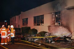 Greater Alarm Fire at West L.A. Office Supply Store. © Photo by Mike Meadows. Click to view more...