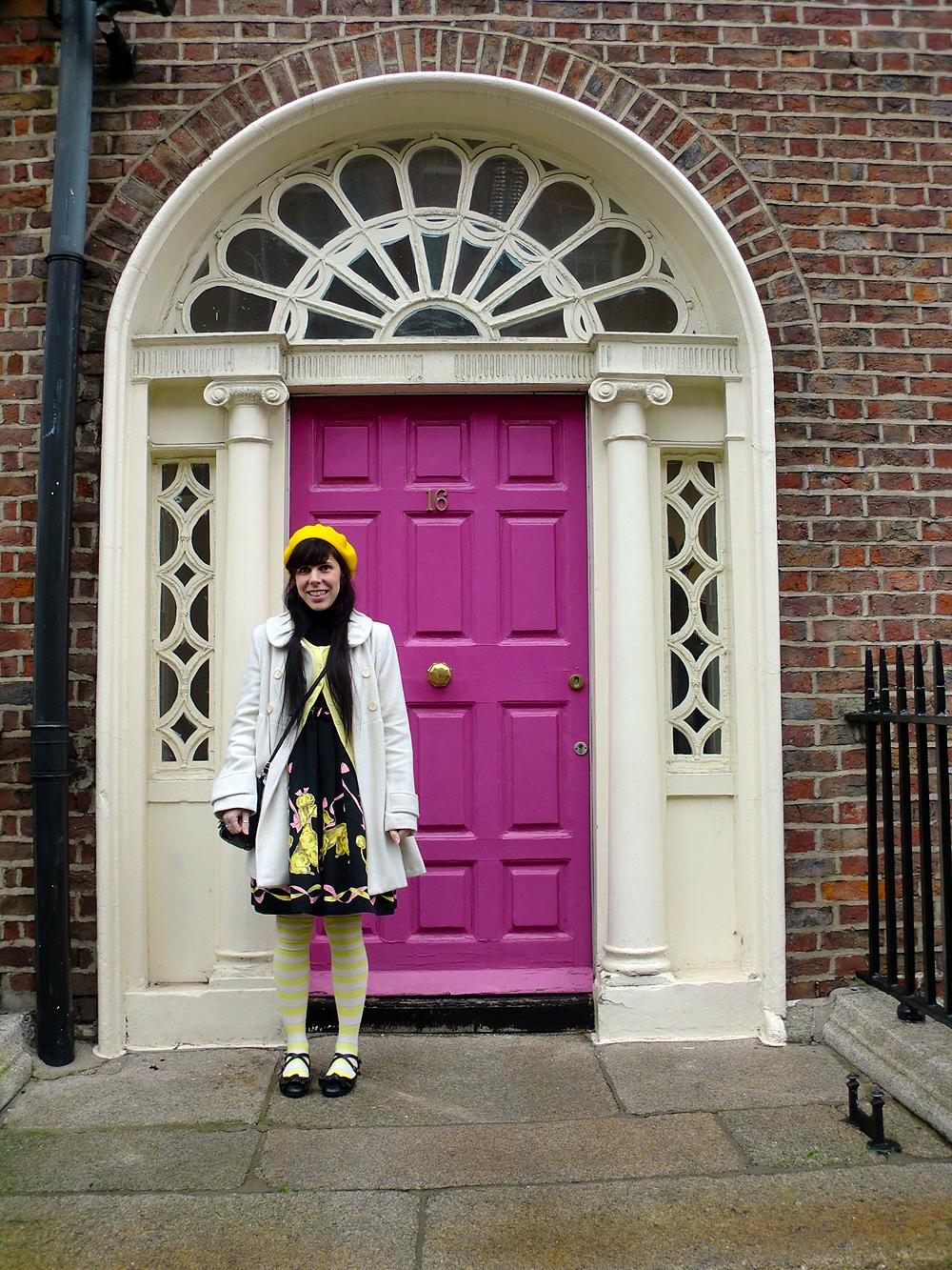 Dublin Pink Door - Dublin, Ireland.