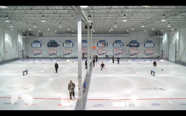 Curling Rink Overview Shot