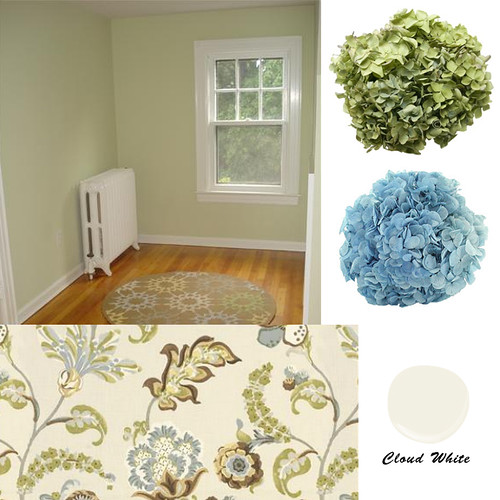 Guilford Green Kitchen Cabinets: Suggestions For A Soft, Warm Green To Go With Cloud White?