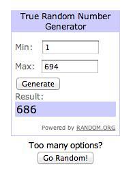 random.org shutterfly