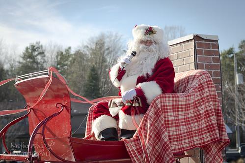 圣诞老人在圣诞节游行2013年的照片