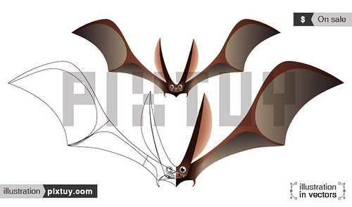 Murcielago en vectores / Bat in vectors by lex-ex