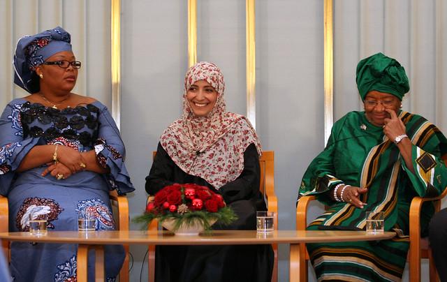 Leymah Gbowee, Tawakkul Karman og Ellen Johnson Sirleaf - vinnerne av Nobels Fredspris 2011