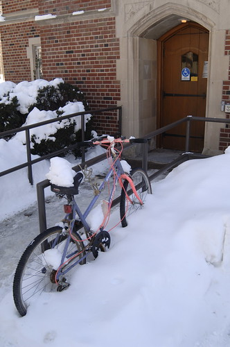 Bikes@Naz ... in Winter – Nazareth College, Rochester, NY