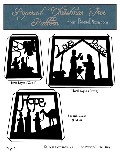 Papercut Nativity Tree Pattern Page 3