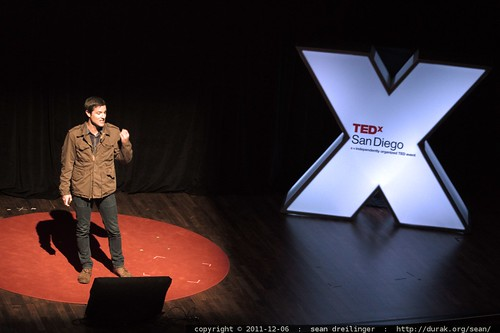 Jason Russell of Invisible Children speaks at TEDxSanDiego in December 2011     MG 4049