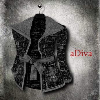 aDiva couture Alissa Boucle Fur Mix Jacket Black, 255 lindens by Cherokeeh Asteria