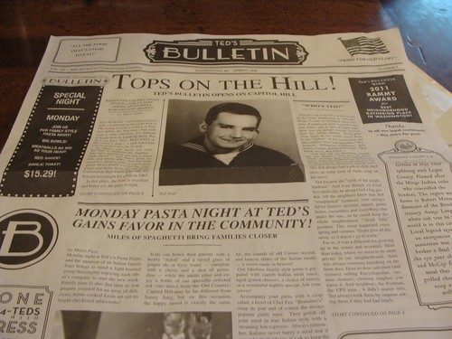 Ted's Bulletin Menu