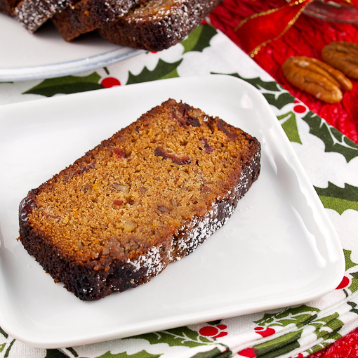 Cranberry Bourbon Christmas Cake