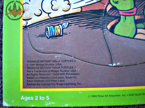 "ROSE ART :: 'TEENAGE MUTANT NINJA TURTLES' - ""Skate Board"" FRAME-TRAY Puzzle vi (( 1993 ))"