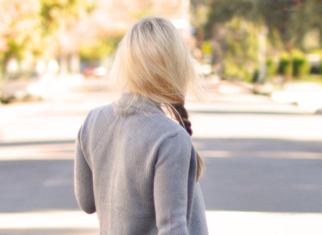 back of hair - side braid