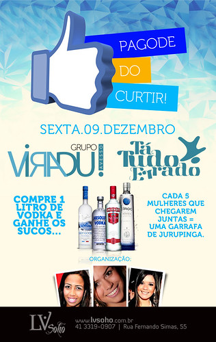Flyer Pagode do Curtir by chambe.com.br
