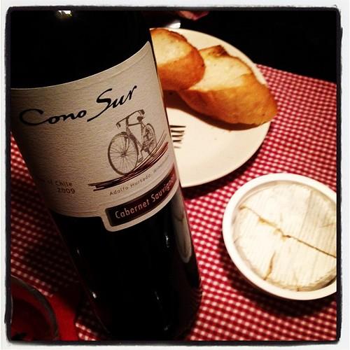 自転車ワイン飲みます。
