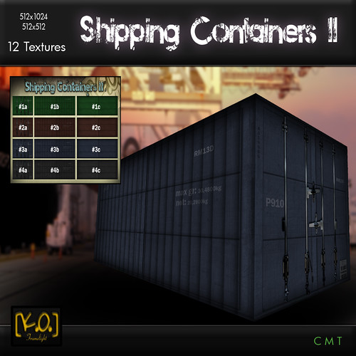 [K.O.] - Shipping Containers II - 12 Textures by Khan Omizu