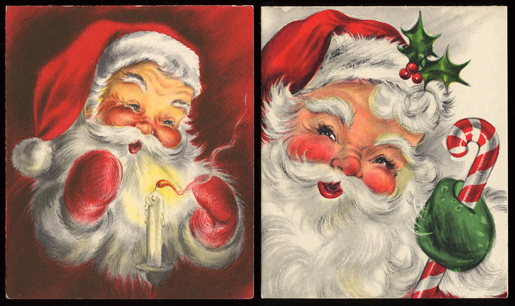 Vintage Santa Claus Christmas Cards - a photo on Flickriver