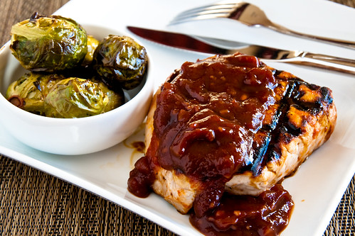 Grilled Barbecue Pork Chops