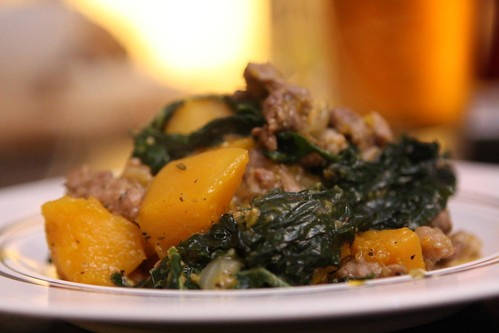 Butternut Kale Stew with Sausage