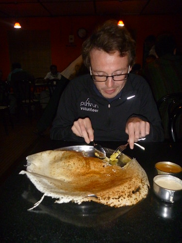 Col tackles a massive dosa