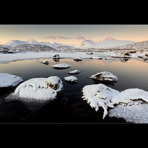 The Black Mount and Rannoch Moor in Winter by David Hannah