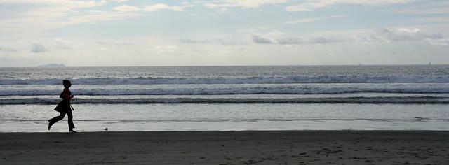Runner on the beach