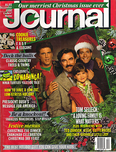 "Ladies Home Journal :: ""The TEENAGE MUTANT NINJA TURTLES in 'Twas the FIGHT before Christmas' // Cover (( December 1990 ))"