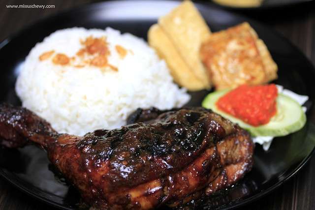 Ayam Bakar (Grilled Chicken Set, $6.80)