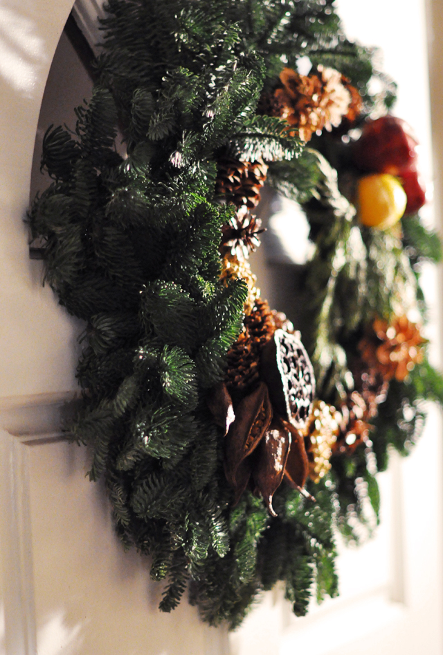 living wreath on the door