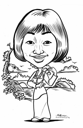 Mulan caricature for Khoo Teck Puat Hospital