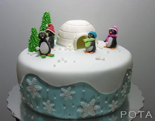 Gâteau banquise et pingouins, Torta Pingvini