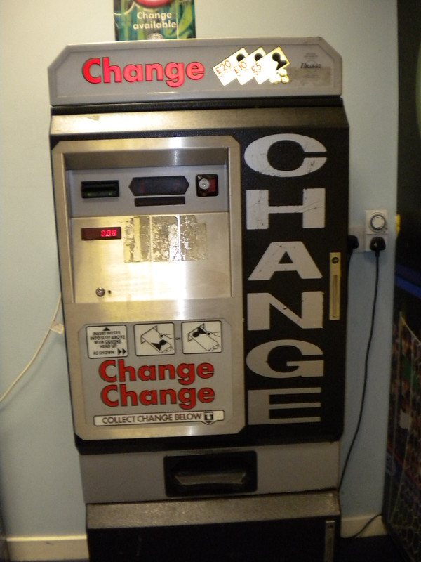 Máquina de cambio en el aeropuerto de Prestwick