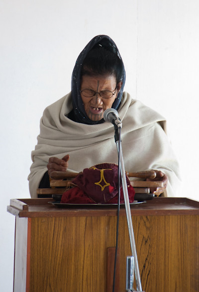 Atapani woman in Ziro church