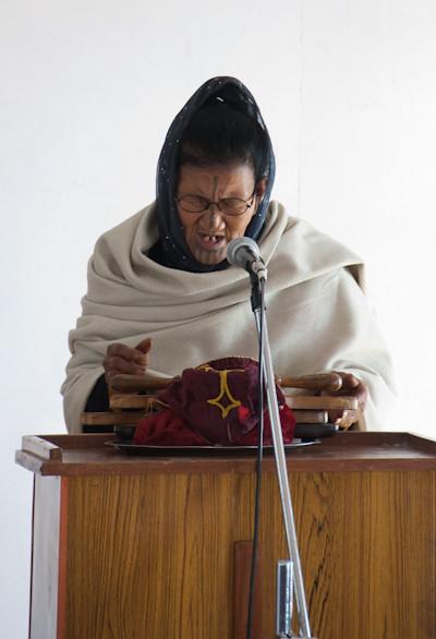 Atapani woman in Ziro church