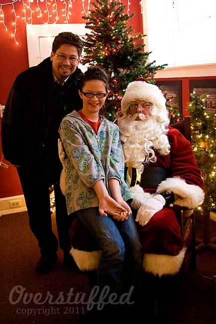 Bria, Santa and Daddy