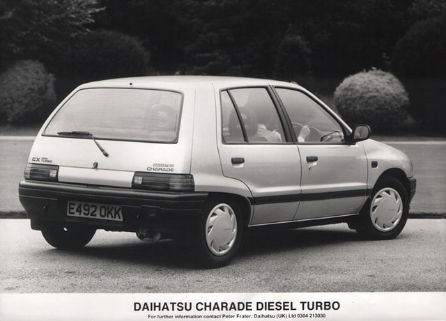 1987/88 Daihatsu Charade CX Diesel Turbo press pic | Flickr - Photo ...