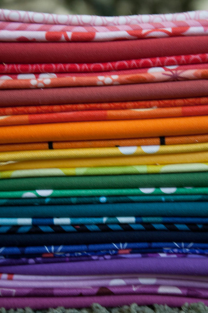 Stack of fabric for Colorist